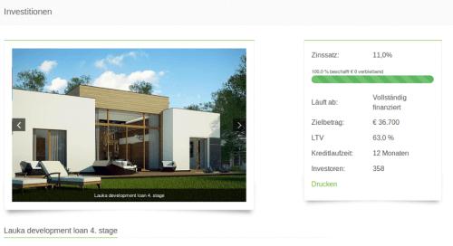 Beispiel Immobilien auf EstateGuru