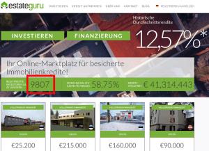 EstateGuru Zahl der Investoren