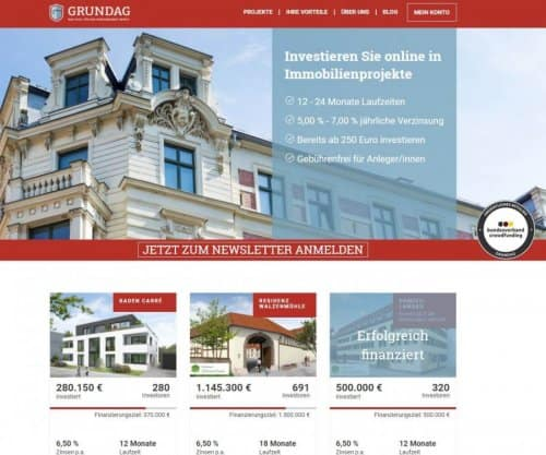 GRUNDAG – Immobilien Crowdinvesting ohne Bankkredite