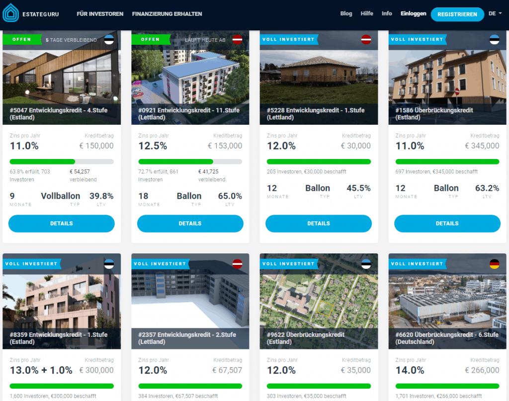 Estateguru Immobilien Crowdinvesting