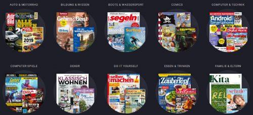 Die Zeitschriften werden in 34 Kategorien sortiert