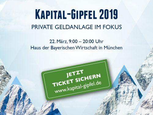 Kapital-Gipfel 22. März 2019 in München