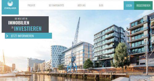 webseite von Zinsland 2019