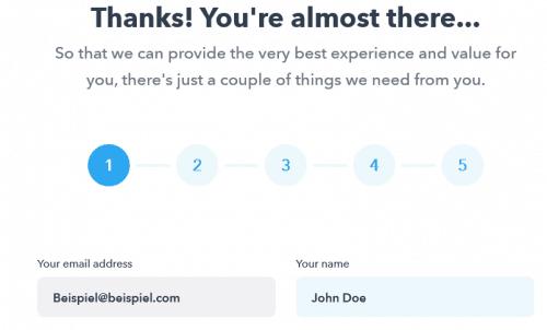 Deinen Vornamen ergänzen - Step 2 - Online Kongress Geldhelden