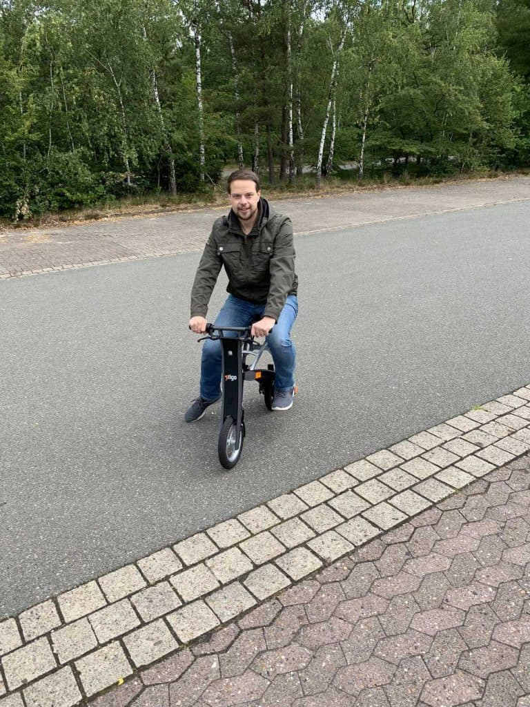 Der Hobbyinvestor auf dem Stigo E-Bike