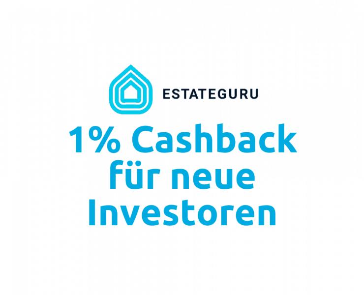 EstateGuru Cashback Aktion im Oktober