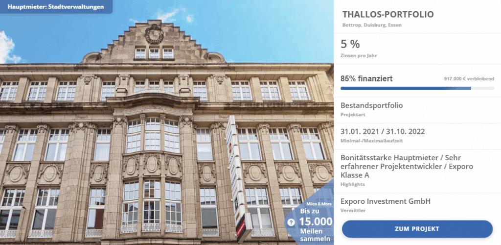 Thallos-Portfolio-Exporo-Finanzierung