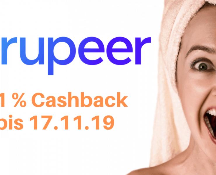 Der aktuelle Grupeer Cashback Bonus