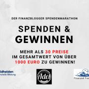 Spenden und Gewinnen - der große Finanzblogger Spendenmarathon
