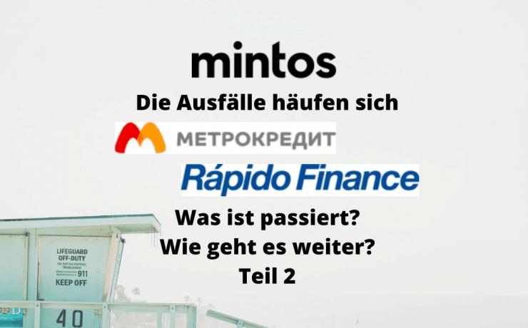 Der Ausfall von Metrokredit und der Ausfall von Rapido auf Mintos - P2P Kredite