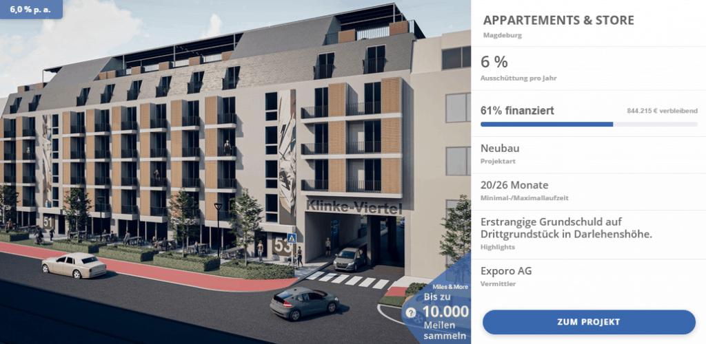 Exporo Finanzierung - ein Beispielprojekt