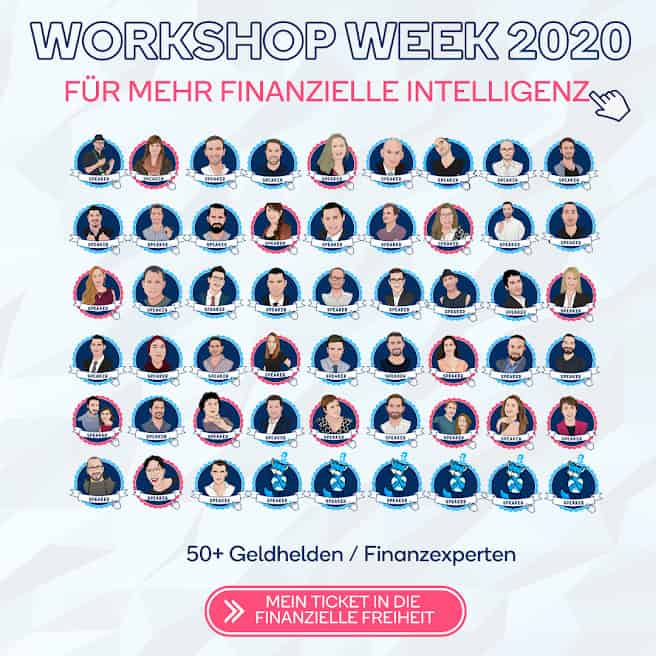 Über 50 Speaker auf der Geldhelden Workshop Week